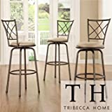 Tribecca Home Avalon Quarter Cross Swivel Counter Barstool Review