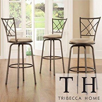 Tribecca Home Avalon Quarter Cross Swivel Counter Barstool Review