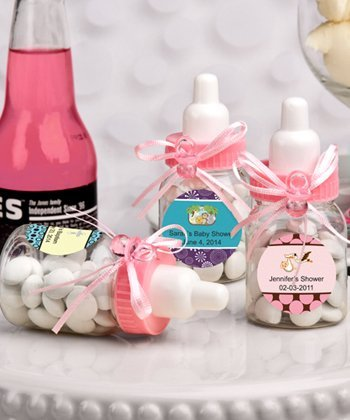 Charmed Baby Bottle Shower Favor,3-Inches, Pink (2 Dozen) -