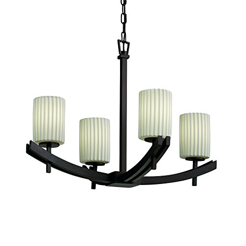 - Justice Design POR-8590-18-WAVE-CROM Justice Design Group - Limoges Collection - POR-8590 - Archway Chandelier - Short Tapered Cylinder Archway FamilyCollection