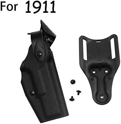 NO LOGO Lixia-Gun, Funda de Pistola táctica de Caza Militar Airsoft for Glock 17 19 USP Colt 1911 M9 P226 Funda de Pistola de Combate con Paleta de Cintura (Color : 1911)