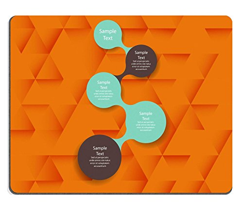 MSD Natural Rubber Gaming Mousepad vector colorful metaball round diagram infographics for presentations can be for business marketing templates and graphics IMAGE 29901240