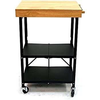 Amazon Com Winsome Wood Foldable Kitchen Cart With Knife