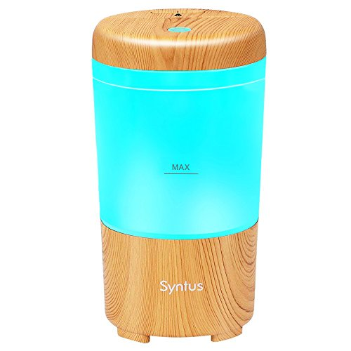 Syntus USB Car Essential Oil Diffuser Wood Grain Mini Portable Aromatherapy Aroma Fragrance Humidifier Air Freshener Purifier for Vehicle Office Travel Home