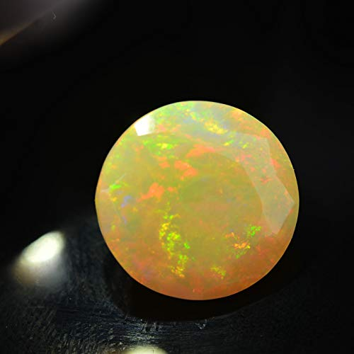 Lovemom 3.67ct Natural Round Unheated Multi-Color White-Opal Ethiopia #W by Lovemom (Image #2)