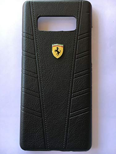 new arrivals 00624 b8b0c Ferrari Imprint Leather Back Case Cover for Samsung: Amazon.in ...