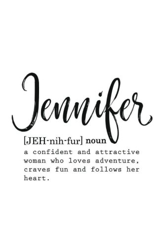 Jennifer: Personalized Journal Notebook for Women (Customized Journal, Inspirational Journal - Jennifer Name Gifts - Personalized Gift