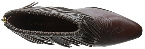 Bettye Muller Women's Fringe Bootie Chocolate bdw7b