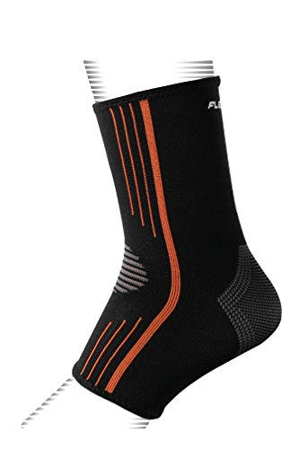 FLEXUFIT Latex-Free Ankle Sleeve Compression Brace Foot Sock with Arch Support for Plantar Fasciitis, Achilles Tendon, Tendonitis and Heel Spurs (Small Single)