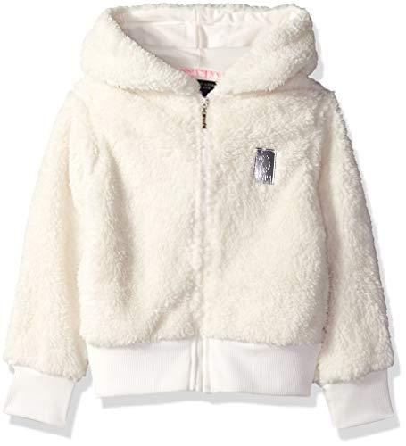 U.S. Polo Assn. Girls' Big Long Sleeve Jersey Hoodie, Fuzzy Hooded Vanilla, 10/12 ()
