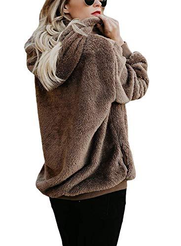 et Manteau Femme Socluer Shirts Hiver Pull Outercoat Sweat Chaud Douillet Furry Jacket en Polaire Automne Fn8xxd5qwB
