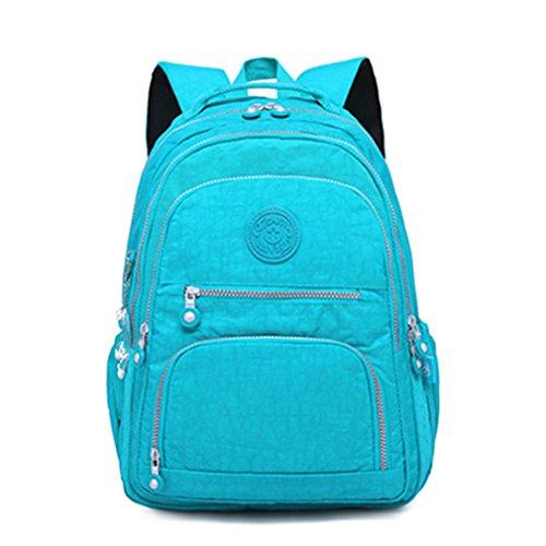 kaoling Mochila femenina mochila escolar para adolescentes mochilas portátiles bolsas de viaje casual Light Blue