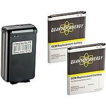 2x Baterías 3,100 mAh Note 2 QUANTUM ENERGY para Samsung Galaxy Note 2 + Cargador de Pared con Puerto USB para el Galaxy Note 2 EB595675LA, N7100 I317, I605, L900, T889, 24 MESES DE GARANTÍA