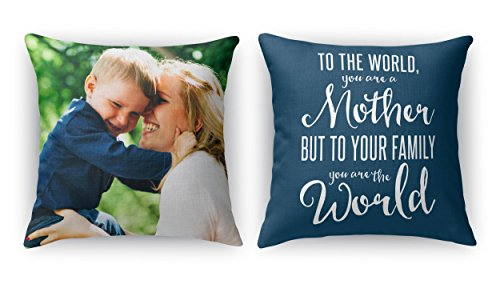 PixyPics Amazing Custom Double Sided Indoor Photo Pillows | Your Photo Printed on Vibrant and Beautiful Photo Pillows (16