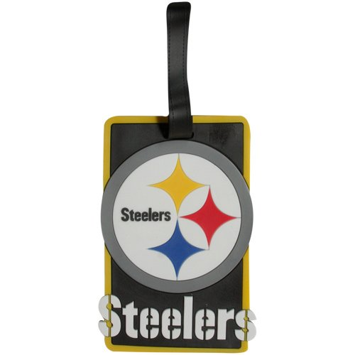 Pittsburgh Steelers Luggage Tag (Aminco International NFL-LS-030-12 Soft Bag Tag - Pittsburgh Steelers)
