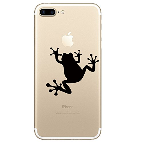 Frog Cell Phone Case (AIsoar iPhone 8 Plus Case, IPhone 7 Plus Cover, Design Slim Fit Thin TPU Bumper Transparent Scratch Resistant No-Slip Protective design clear Case for iPhone 7 Plus 8 Plus (Frog))