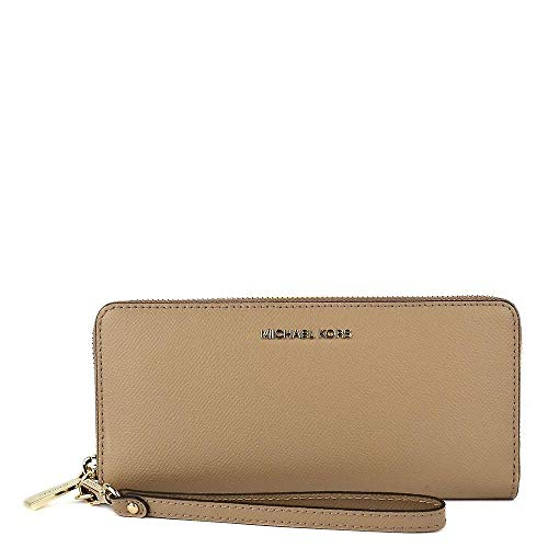 (Michael Kors Women's Jet Set Travel Continental Wristlet (Truffle) )