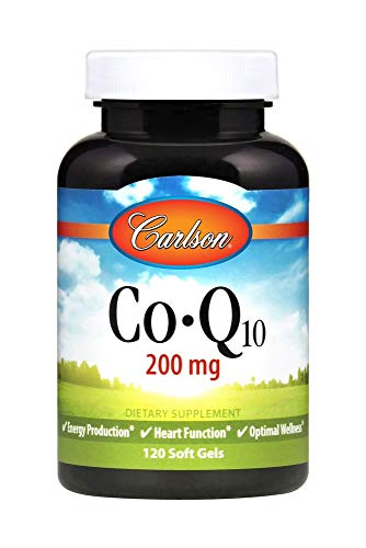 Carlson Laboratories Co-Q-10 200mg 120 Soft Gels, 0.3 Pound