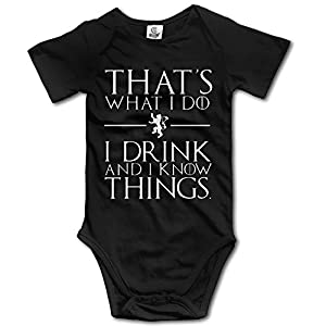 That's What I Do I Drink And Know I Things Kids Boys Girls Baby Bodysuit Baby Onesie Clothing