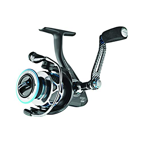 Ardent VC30BA Bolt 6.0:1 Spinning Fishing Reel - Left or Right Hand,3000 Size,Black
