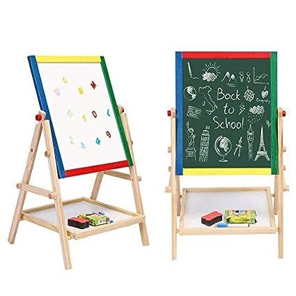 amazon com yosooo kids art easel double sided folding adjustable