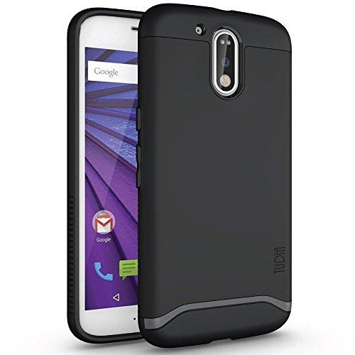 Moto G4 / G4 Plus Case, TUDIA Slim-Fit Heavy Duty [Merge] Extreme Protection/Rugged but Slim Dual Layer Case for Motorola Moto G4 / G4 Plus (Matte Black)