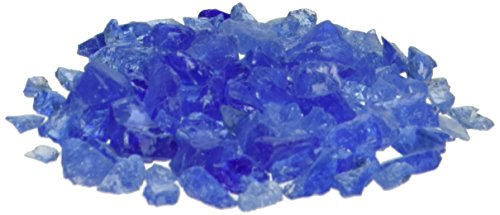 Exotic Pebbles 2 lb Landscaping Glass Pebbles, Small, Ocean Blue