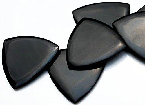 Unique & Custom [Medium Gauge - Tri-Point Style Sharp Tip] Hard Luxury Guitar Pick Made of Genuine Horn Bone
