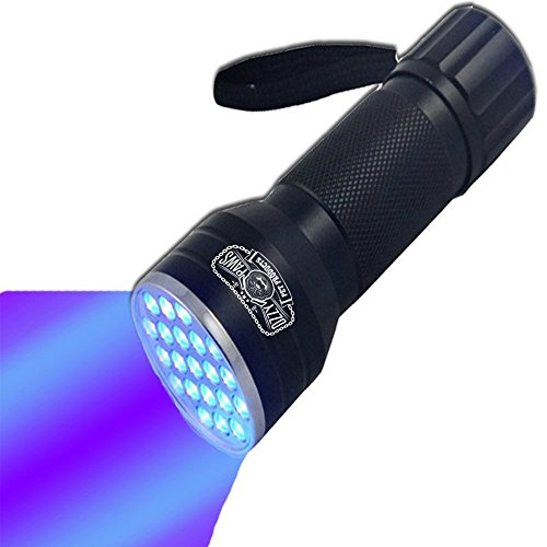 UV Flashlight-Brightest Black Light 21-LED Pet Urine Detector-Best at detecting stains from cats/dogs-Perfect for scorpion hunting, hotel inspection, ID cards, detect fridge/freon leaks