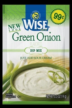 Wise Green Onion Dip Mix 6 Packets by Wise Company