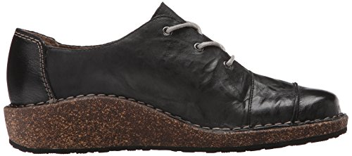 Aetrex Womens Kerry Lace Up Oxford Nero