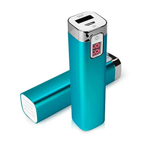 BoxWave Rejuva Power Pack Huawei Ascend Y600 Power Bank - Universal, Portable 2600 mAh Rechargeable Li-ion Huawei Ascend Y600 Battery Charger/Power Bank with Backlit Digital LED Power Display and Built In High Output USB Ports (Sky (Huawei Ascend Y600 Battery)