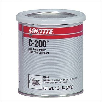 C-200 High Temperature Solid Film Lubricant Cap. Wt.: 1.300lb, Price for 1 Can (part# 39893) by Loctite