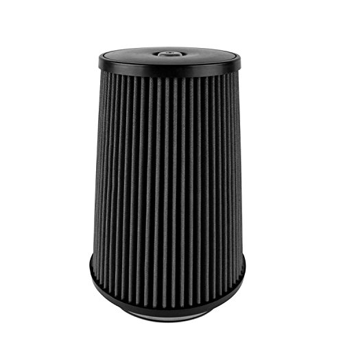 Airaid 702-499 Universal Clamp-On Air Filter: Round Tapered; 6 in (152 mm) Flange ID; 12 in (305 mm) Height; 9 in (229 mm) Base; 7 in (178 mm) Top