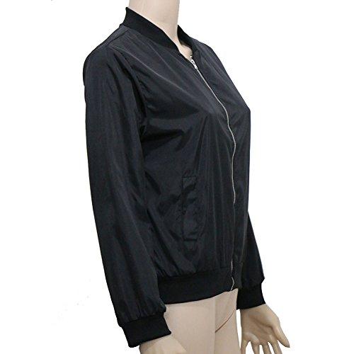 Bling Stars Damen Collegejacke Jacke schwarz schwarz Small Schwarz OFijS