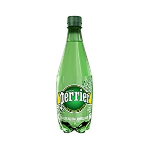 PERRIER Sparkling Mineral Water, 16.9-Ounce Plastic Bottles (Pack of 24)