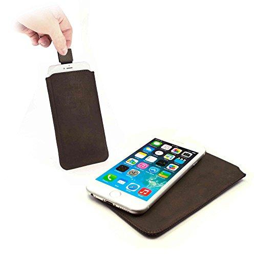 "Tuff-Luv Pull-Tab ""Western Leather Collection"" Ledertasche Hülle für Apple iPhone 6/6s - braun"