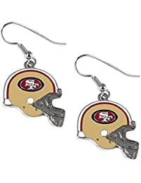 NFL womens NFL Sports Team J Hook Dangle Logo Earring Set