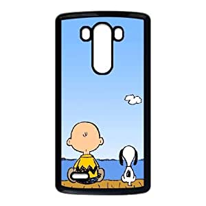 LG G3 phone case Black Charlie Brown and Snoopy GHHL6523675