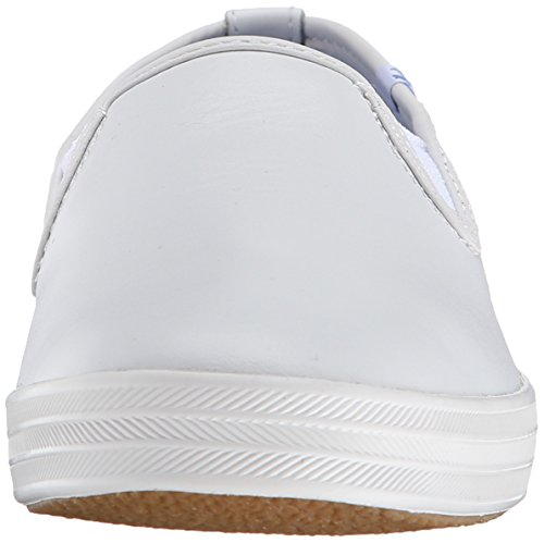 White Slip Champion Sneaker Leather Women's Original Keds Leather On nZ0gwHq