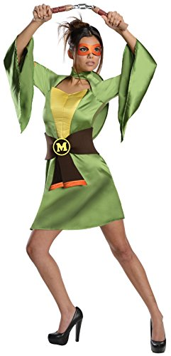 Secret Wishes Teenage Mutant Ninja Turtles, Michelangelo Costume, Green, Large (Ninja Turtle Michelangelo Costume)