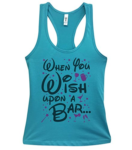 Funny Disney Inspired Tanks - When You Wish Upon A Bar Royaltee Party Shirts