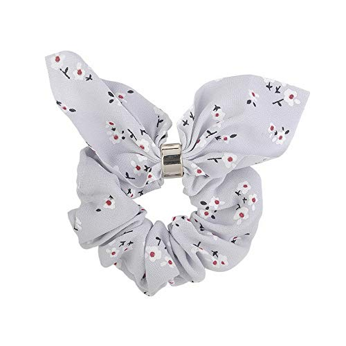 Wausa Flamingo Elastic Bow Knot Hair Rope Ring Tie Scrunchie Ponytail Holder Hair Band | Model RNG - 23283 | ()