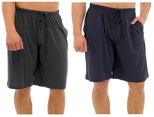Tom Franks - Pantalón de Pijama - para Hombre Dark Grey & Navy Blue Extra-