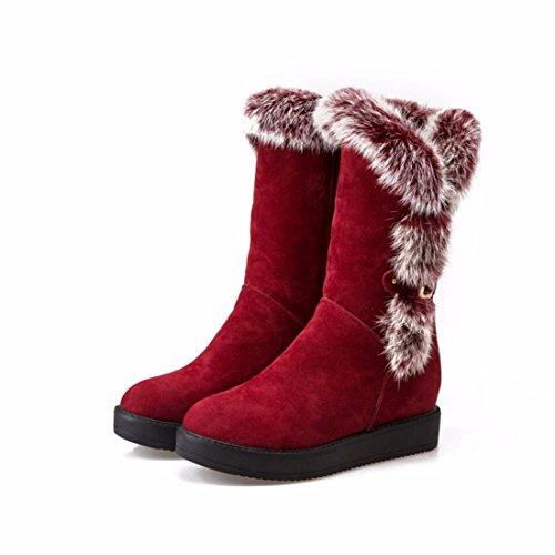Martin zapatos altos con de botas Algodón tubo gules tacones invierno pendiente botas botas Xx4Cqzw