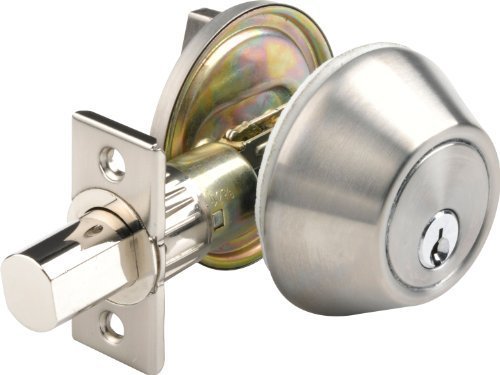 Brinks 2719-130 Mobile Home Single Cylinder Deadbolt Keyed on One Side, Stainless Steel by BRINKS