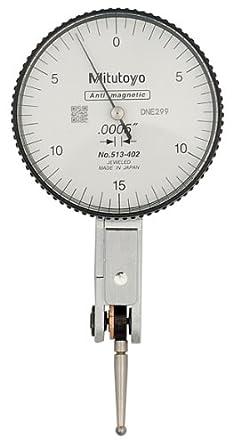 "Mitutoyo 513-402, .0005"" X .030"" Horizontal Test Indicator, 0-15-0"