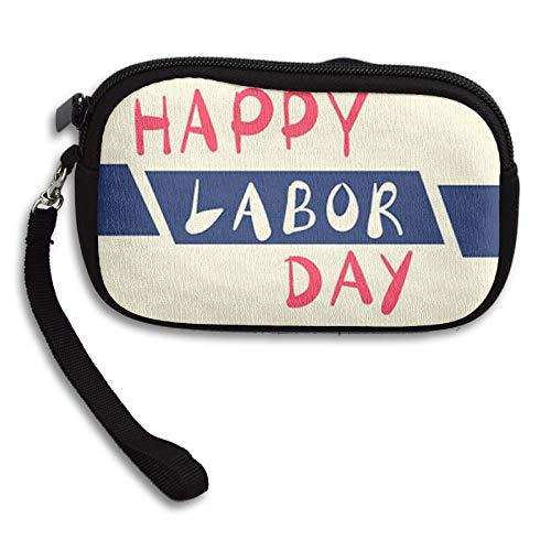 WCVRUT Unisex Clutch Wallet For Woman Ladies -Happy-Labour-Day Long Purse Bag Men Gentlemen by WCVRUT