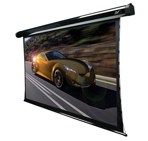"""Elite Screens <Clearance> TE84VG2 CineTension2 PowerGain Series Premium Tensioned Electric Projection Screen with IR&RF remotes, Low voltage 3-way wall switch and 12V Trigger. 1.8 gain (84""""(4:3))"""