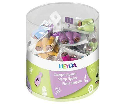 Mix Designs Rubber Stamps On Wood Set 36ks, Heyda, Scrapbooking Paper
